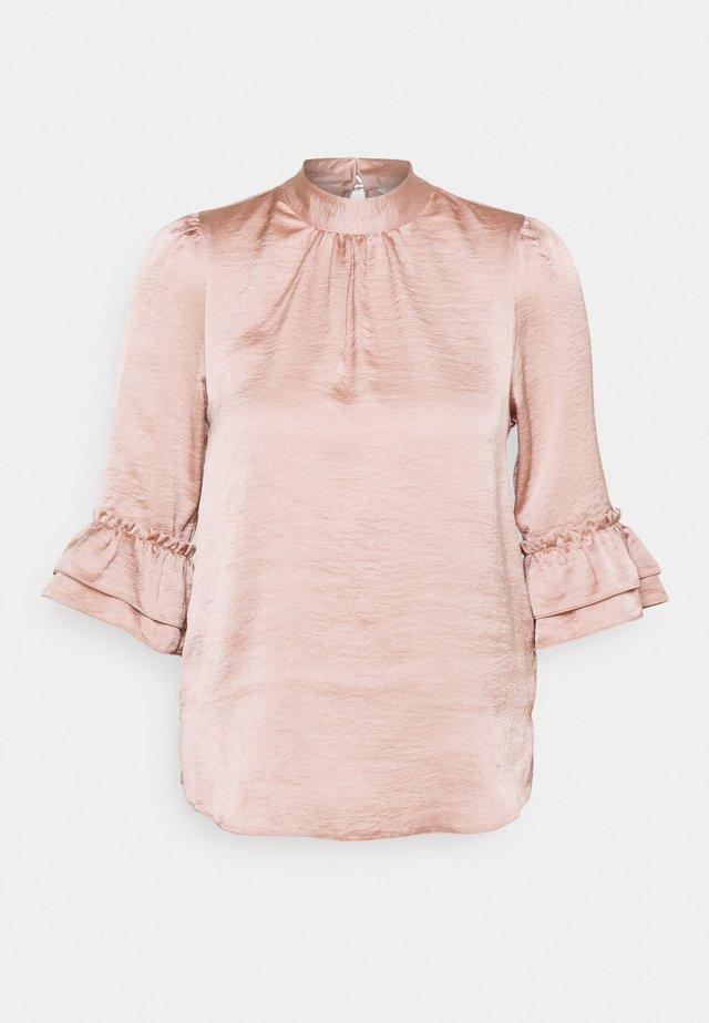 HIGH NECK 3/4 SLEEVE BLOUSE - T-shirt à manches longues - blush