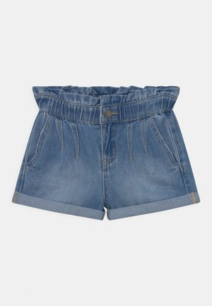 PETA PAPERBAG - Denim shorts - blue denim