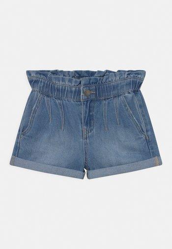 PETA PAPERBAG - Denim shorts - blue denim