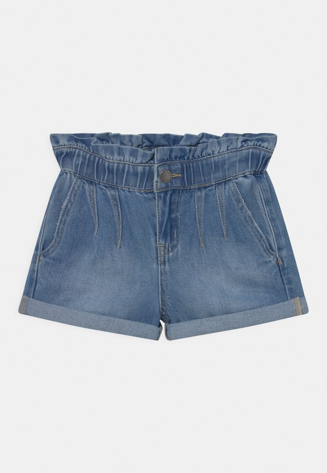 PETA PAPERBAG - Shorts di jeans - blue denim