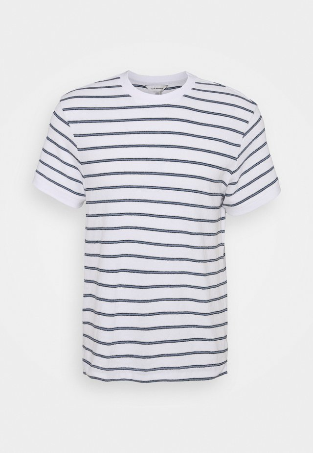 TEXTURAL STRIPE - Print T-shirt - white