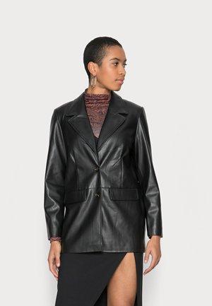 HILWA - Faux leather jacket - black