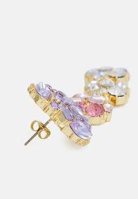 Pieces - PCLA EARRINGS - Øredobber - gold-coloured/purple/clear - 1