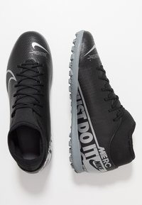 Nike Performance - MERCURIAL 7 CLUB TF - Astro turf trainers - black/metallic cool grey/cool grey - 1