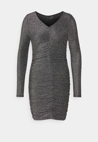 Vero Moda Petite - VMJOSEPHINE SHORT DRESS - Jersey dress - black/silver - 0