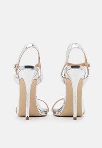 BEBO - SPARRA - High heeled sandals - silver metallic - 3
