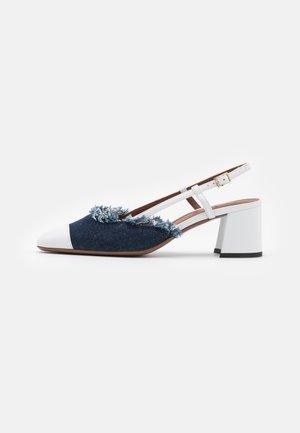 SLINGBACK - Klasické lodičky - white/jeans