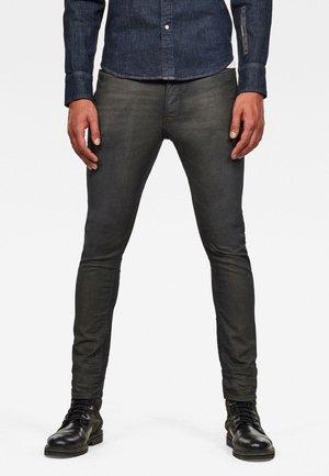 D-STAQ 3D SLIM COJ - Slim fit jeans - raven soft cobler