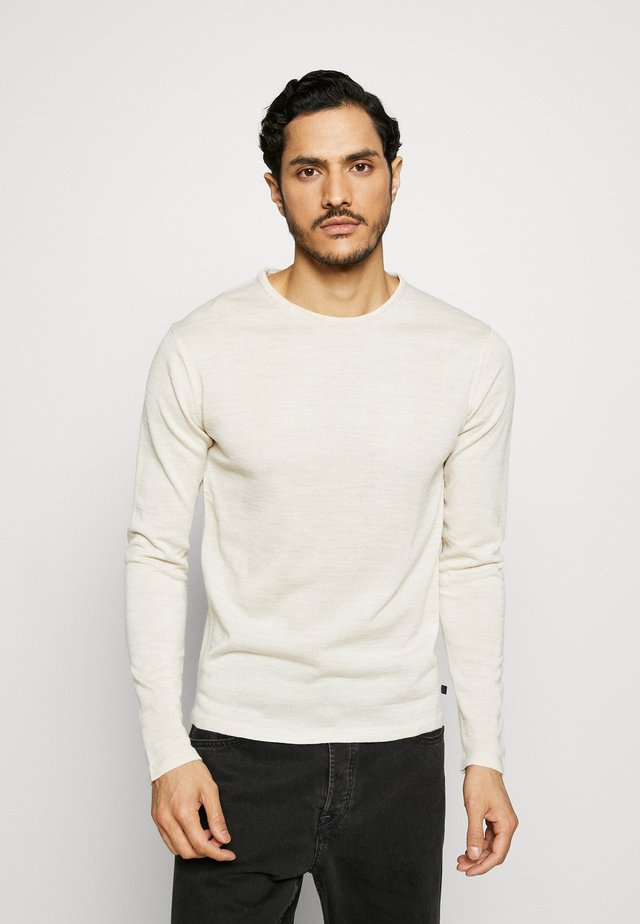 O NECK - Stickad tröja - sand