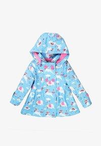 MINOTI - Waterproof jacket - light blue pink - 0