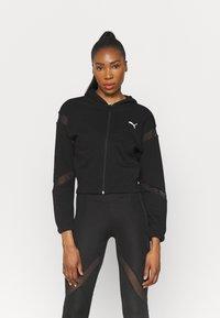Puma - PAMELA REIF X PUMA FULL ZIP HOODIE - Zip-up hoodie - black - 0