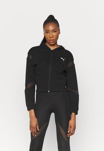 PAMELA REIF X PUMA FULL ZIP HOODIE - Zip-up sweatshirt - black