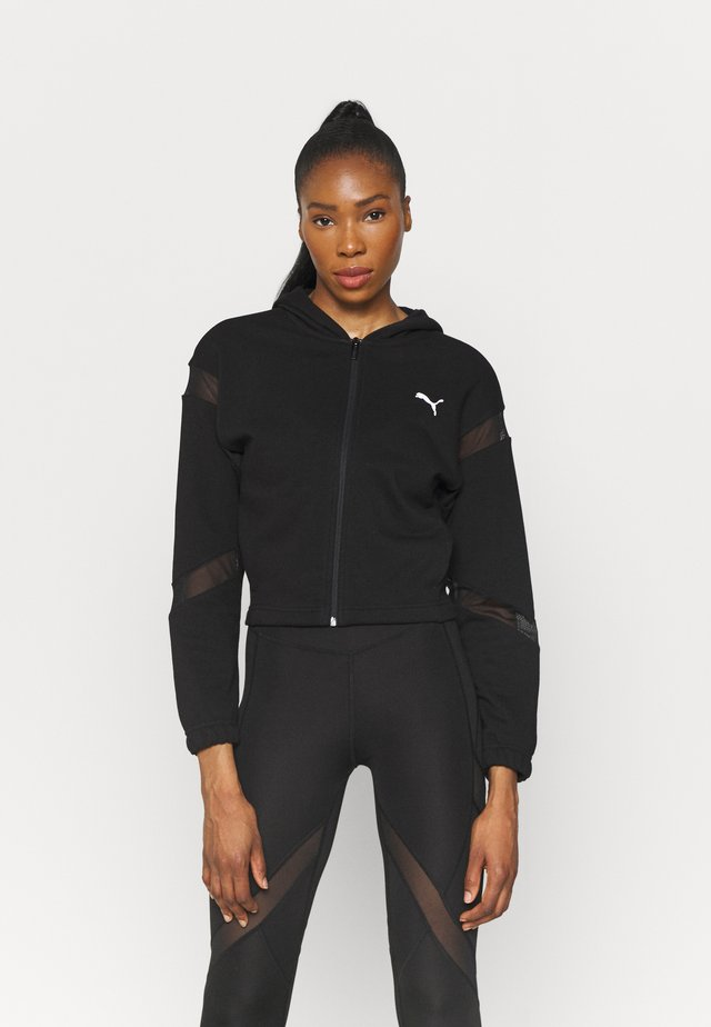 PAMELA REIF X PUMA FULL ZIP HOODIE - Zip-up hoodie - black