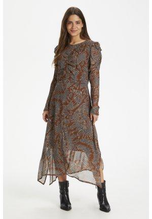 ESJAPW  - Day dress - zig zag print, hazel brown