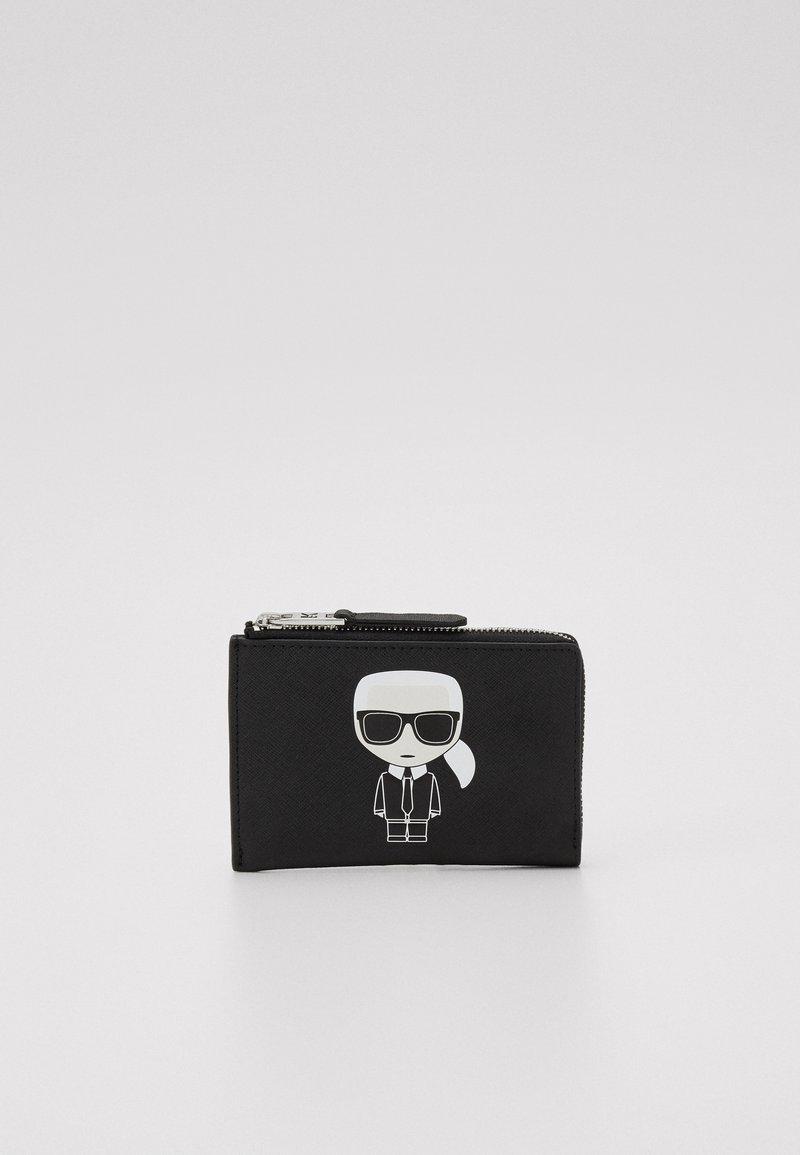 KARL LAGERFELD - IKONIK ZIP CARD HOLDER - Wallet - black