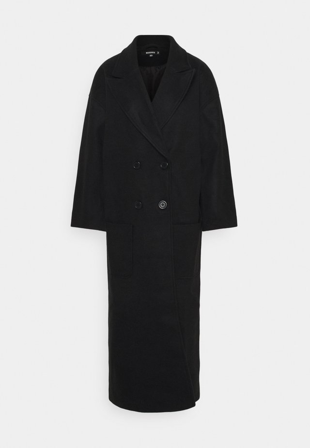 OVERSIZED FORMAL COAT - Mantel - black