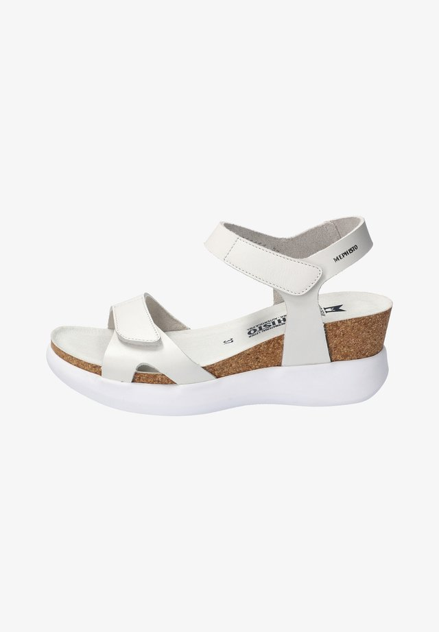 Wedge sandals - weiss