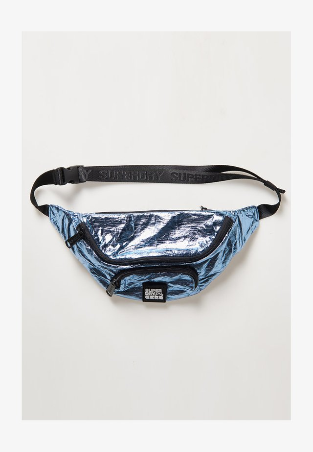 Bum bag - blue metallic