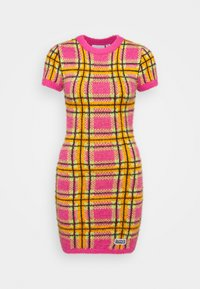 The Ragged Priest - CHECK EYELASH MINI DRESS - Pouzdrové šaty - pink - 4