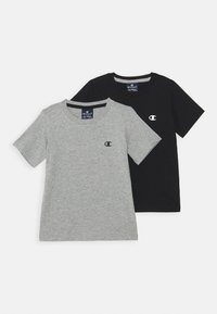 Champion - BASICS CREW NECK 2 PACK - Basic T-shirt - grey/blue - 0
