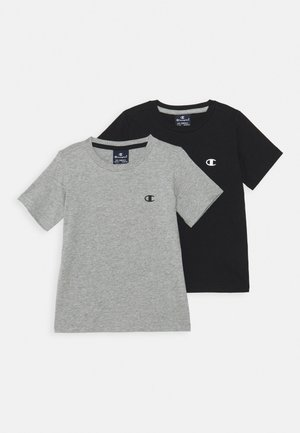 BASICS CREW NECK 2 PACK - Camiseta básica - grey/blue