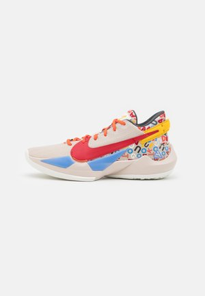 ZOOM FREAK 2 NRG - Basketball shoes - desert sand/gym red/sail/camellia