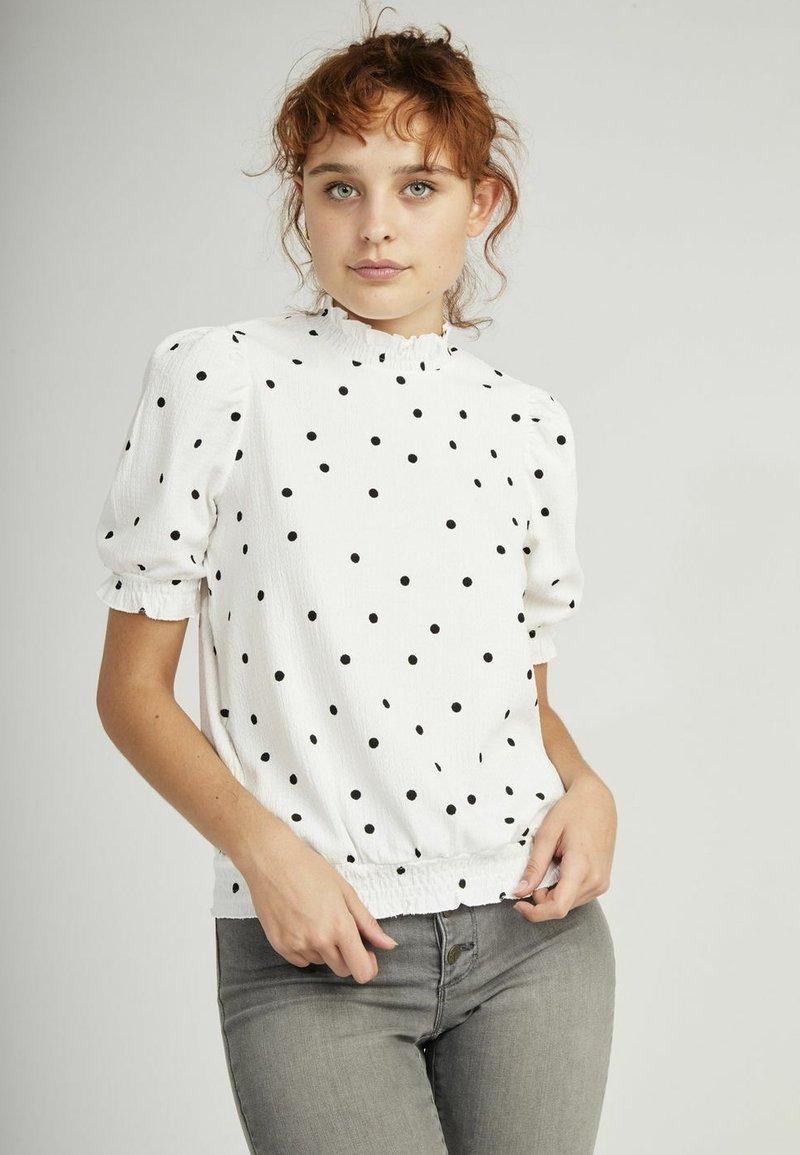 NAF NAF - Print T-shirt - white
