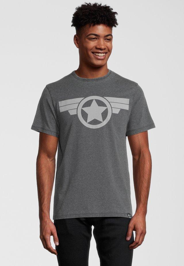 MARVEL CAPTAIN AMERICA ICON - T-shirt imprimé - grau