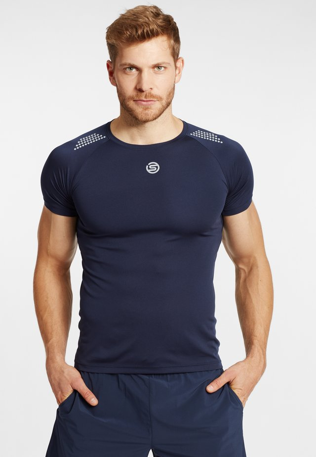 S3 SHORT SLEEVE  - T-shirt basic - navy blue