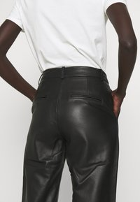 2nd Day - TIMEA - Leather trousers - jet black - 4