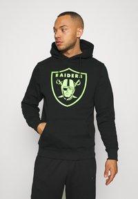 Fanatics - NFL LAS VEGAS RAIDERS NEON POP CORE GRAPHIC HOODIE - Sweatshirt - black - 0