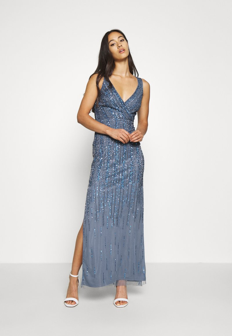 Lace & Beads - MACKENZIE MAXI - Occasion wear - navy irridescent
