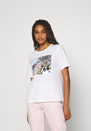 ONLPEANUTS LIFE BOXY VACAY - T-shirts med print - bright white