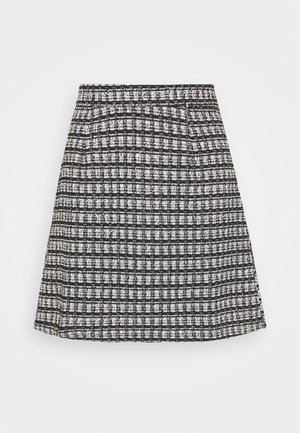 VMROYA SHORT SKIRT - A-line skirt - black/snow white