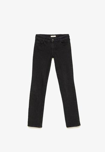 MIT TIEFEM BUND  - Straight leg jeans - dark grey