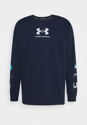 MULTI LOGO - Long sleeved top - academy/halo gray