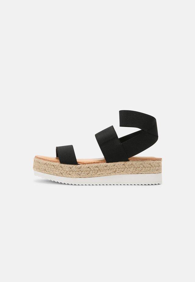 BREE - Korkeakorkoiset sandaalit - black