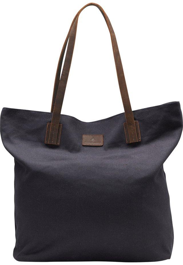 DREIMASTER SHOPPER - Shopping bag - marine braun