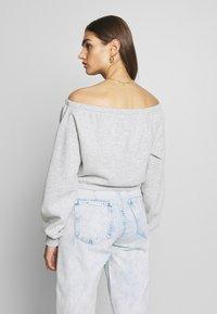 Nly by Nelly - OFF SHOULDER - Sweatshirt - grey melange - 2