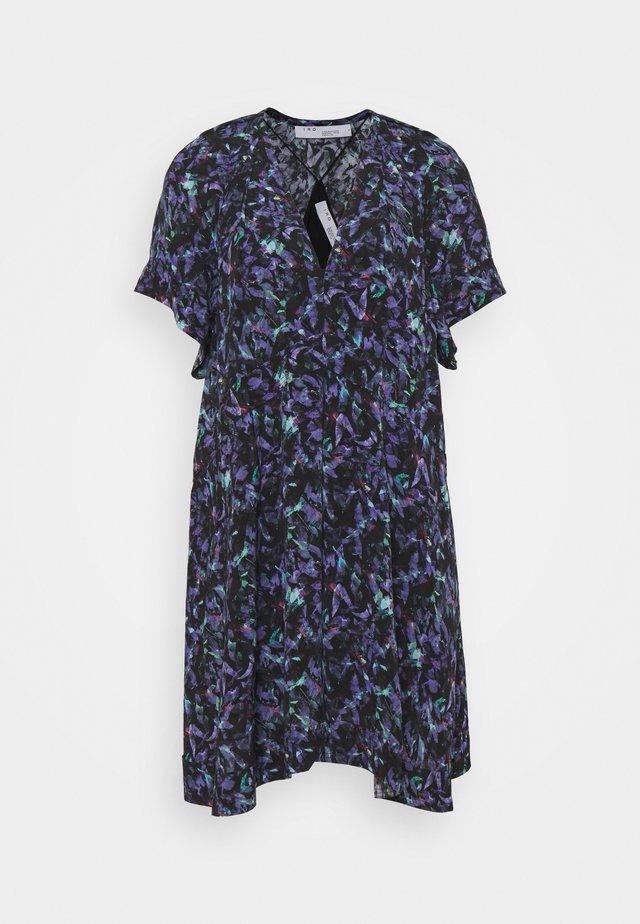 BAGO DRESS - Korte jurk - black/multicolored