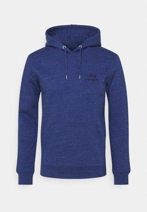HOODIE CAFÉ & CROISSANT UNISEX - Sweatshirt - mid heather blue