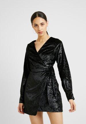 LIPA WRAP MINI DRESS - Day dress - black