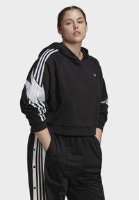 adidas Originals - FAKTEN HOODIE - Hoodie - black - 0