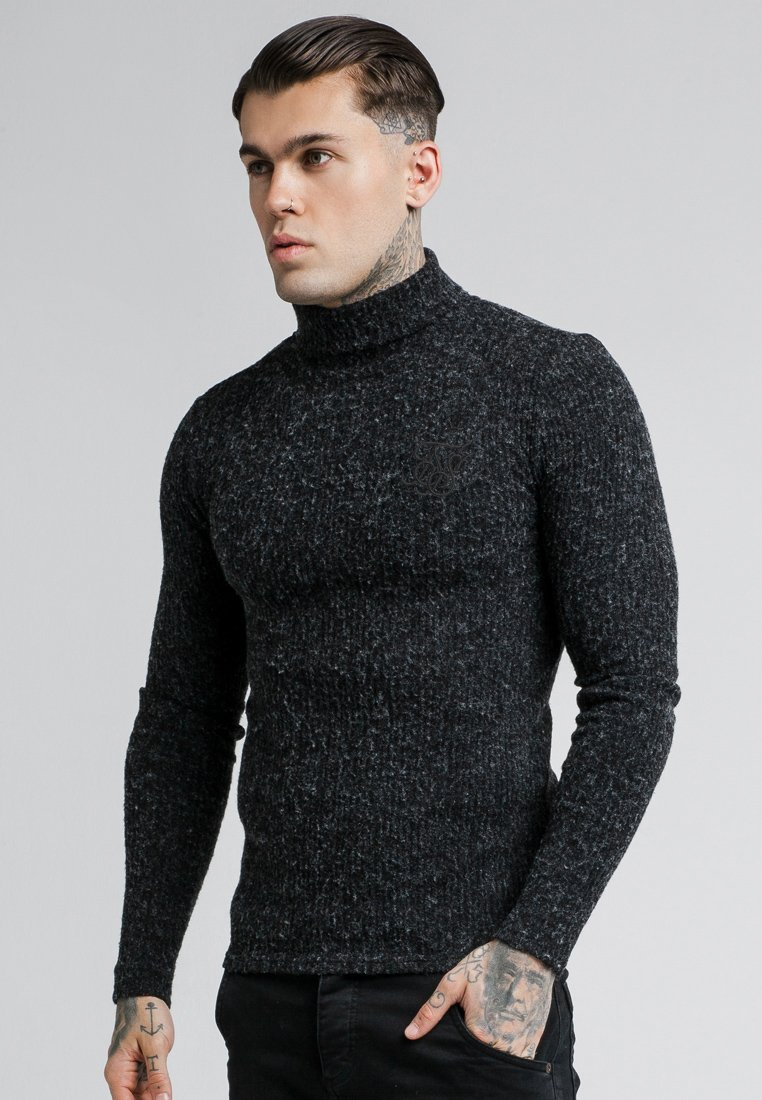 SIKSILK - ROLL NECK JUMPER - Maglione - black
