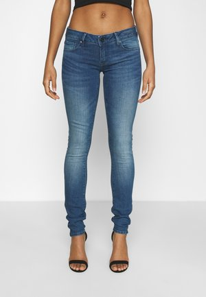 3301 LOW SUPER SKINNY - Jeans Skinny - faded neptune blue