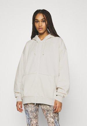 HUGE ZIP HOODIE - Zip-up hoodie - beige