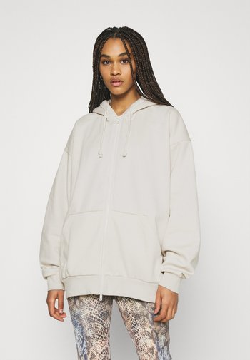 HUGE ZIP HOODIE - Sweater met rits - beige