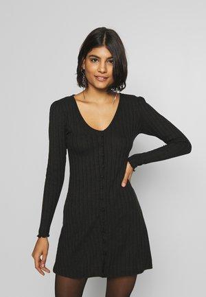 PLAIN BUTTON MINI - Day dress - black