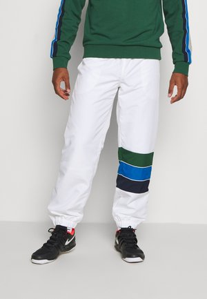 TENNIS PANT RAINBOW - Tracksuit bottoms - white/navy blue/utramarine/green