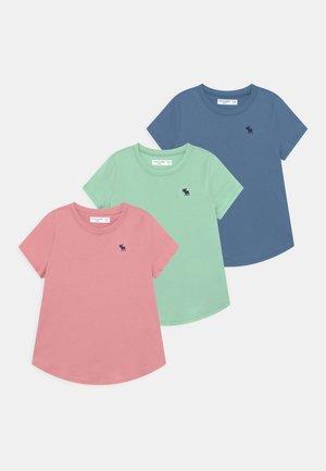 CORE CREW 3 PACK - Basic T-shirt - blue/pink/green